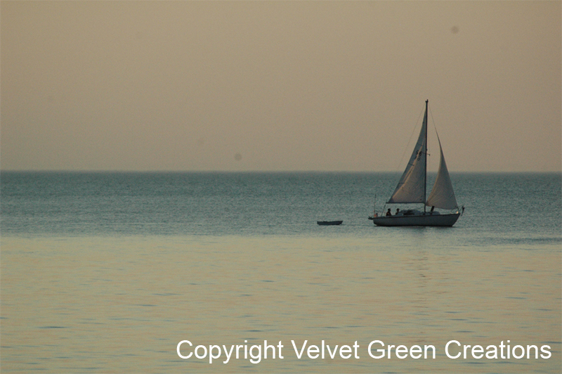 Sailboat on Munising Bay